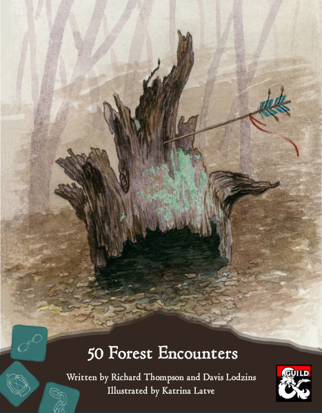 Cover for Forest Encounters, a D&D supplementmade by GreenBirdRPGs.