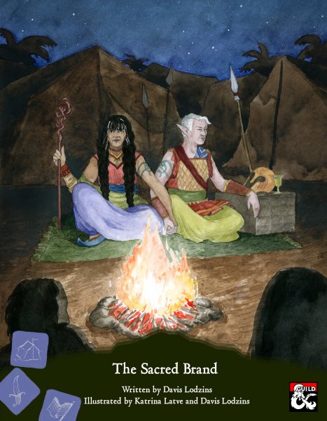 Cover for Sacred Brand, a D&D supplementmade by GreenBirdRPGs.